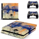 Sunrise Painting ps4 skin decal for console and 2 controllers