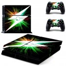 Lightning bolt ps4 skin decal for console and 2 controllers