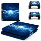Blue lightning ps4 skin decal for console and 2 controllers