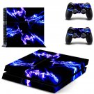 Electric Lightning ps4 skin decal for console and 2 controllers