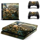 Civil war painting ps4 skin decal for console and 2 controllers