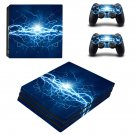 Blue lightning ps4 pro skin decal for console and controllers