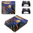 The Scream ps4 pro skin decal for console and controllers