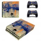 Sunrise Painting ps4 pro skin decal for console and controllers