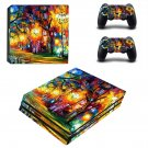 Acrylic painting ps4 pro skin decal for console and controllers