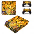 Yellow flowers oil painting ps4 pro skin decal for console and controllers