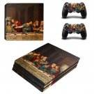 Jesus christ last supper painting ps4 pro skin decal for console and controllers