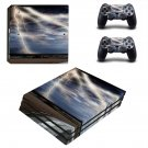 Lightning cloudy sky with road view ps4 pro skin decal for console and controllers