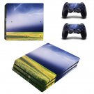 Lightning sky with nature view ps4 pro skin decal for console and controllers