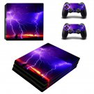 Lightning sky ps4 pro skin decal for console and controllers