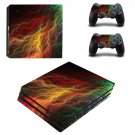 Abstract lightning art ps4 pro skin decal for console and controllers