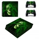 Toxic Skull ps4 pro skin decal for console and controllers