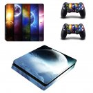 Glaxy Infinity ps4 slim skin decal for console and controllers