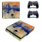 Sunrise Painting ps4 slim skin decal for console and controllers