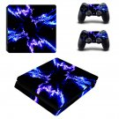 Black Lightning sky ps4 slim skin decal for console and controllers
