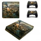 Civil war painting ps4 slim skin decal for console and controllers