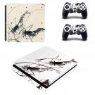Painting ps4 slim skin decal for console and controllers