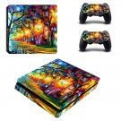 Acrylic painting ps4 slim skin decal for console and controllers