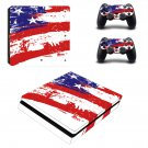 USA Flag ps4 slim skin decal for console and controllers