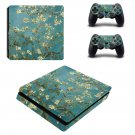 Flowering Garden Art ps4 slim skin decal for console and controllers