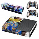 Golden state warriors skin decal for Xbox one console and controllers