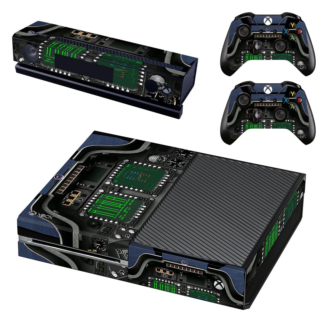 Custom Amplifier print skin decal for Xbox one console and controllers
