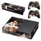 The lady of shalott skin decal for Xbox one console and controllers