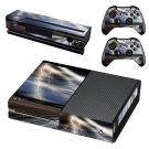 Lightning cloudy sky with road view skin decal for Xbox one console and controllers