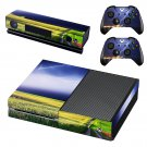 Lightning sky with nature view skin decal for Xbox one console and controllers