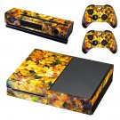 Yellow flowers oil painting skin decal for Xbox one console and controllers