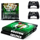 Boston Celtics ps4 skin decal for console and 2 controllers