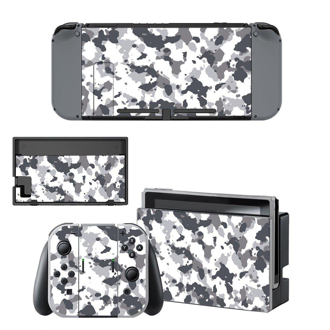 Camouflage Nintendo switch console sticker skin