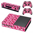pink camouflage skin decal for Xbox one console and controllers