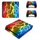 Lightning ps4 slim skin decal for console and controllers