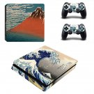 South Wind Clear Dawn ps4 slim skin decal for console and controllers