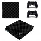 Black Chess Board ps4 slim skin decal for console and controllers
