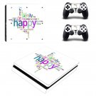 Prismatic Happy Family Clipart ps4 slim skin decal for console and controllers