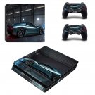 Car Print ps4 slim skin decal for console and controllers