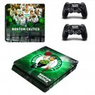 Boston Celtics ps4 slim skin decal for console and controllers
