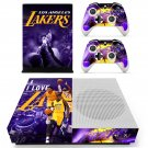 Los Angeles Lakers skin decal for Xbox one S console and controllers