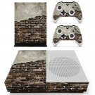 Rusted Brick wall skin decal for Xbox one S console and controllers