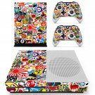 Sticker bomb skin decal for Xbox one S console and controllers
