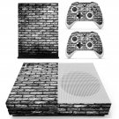 Black and white shade Brick wall skin decal for Xbox one S console and controllers