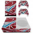 Graffiti brick wall  skin decal for Xbox one S console and controllers