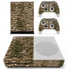 Rusted stone Wall print skin decal for Xbox one S console and controllers