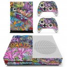 Street art skin decal for Xbox one S console and controllers