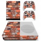 Brick wall  skin decal for Xbox one S console and controllers