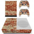 Rusted and Broken Brick wall skin decal for Xbox one S console and controllers