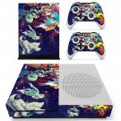 Trippy space skin decal for Xbox one S console and controllers