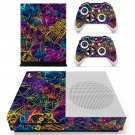 Colourful retro robots skin decal for Xbox one S console and controllers
